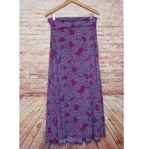 LuLaRoe | Purple/Blue Heart Patterned Maxi Skirt